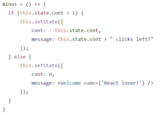 React: Use ES6 arrow functions in Classes TO avoid binding your